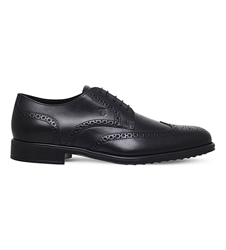 TODS Lace-up leather Derby shoes (Black