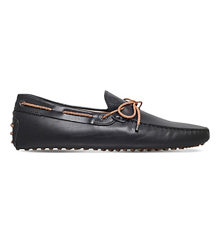 TODS Scooby Doo leather loafers (Black