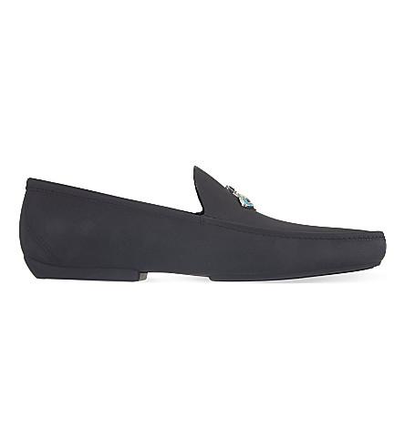 VIVIENNE WESTWOOD Matte PVC orb loafers (Black