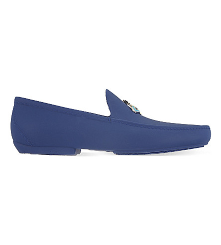 VIVIENNE WESTWOOD Matte PVC orb loafers (Blue