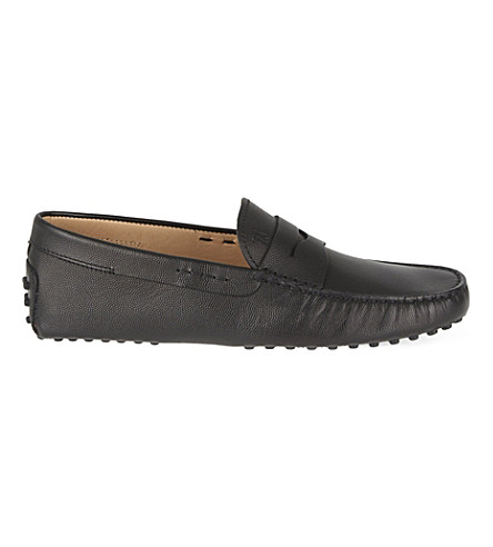 TODS Cavair penny driving shoes (Black