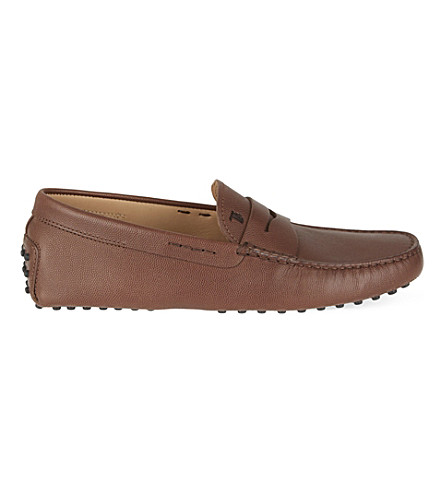 TODS Cavair penny driving shoes (Brown
