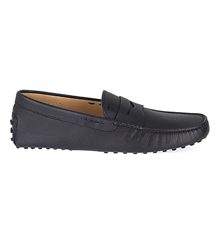 TODS Cavair penny driving shoes (Navy
