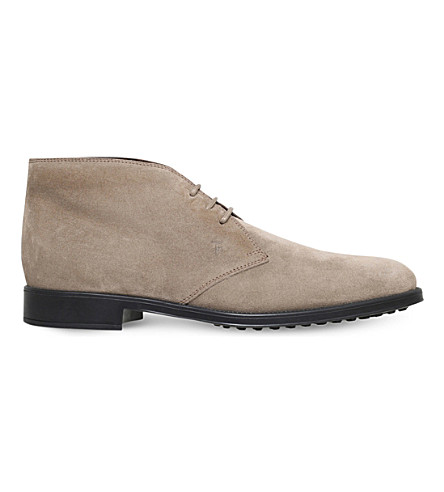 TODS Lace-up suede chukka boots (Grey