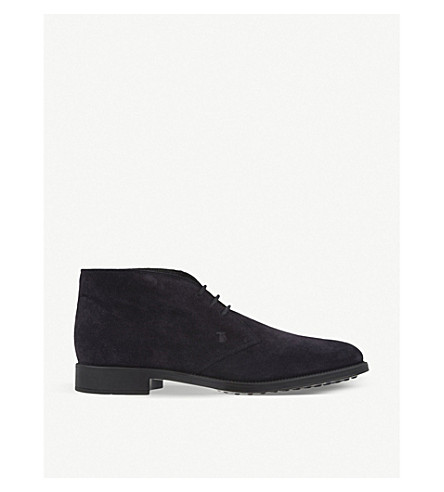 TODS Suede chukka boots (Navy