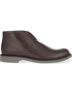 TODS Lite leather chukka boots
