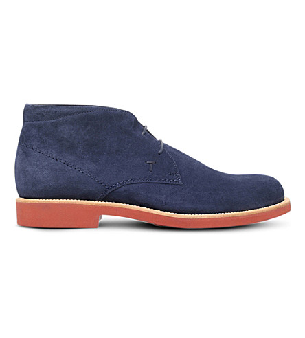 TODS Lite suede chukka boots (Navy