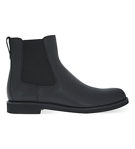 TODS Plain leather chelsea boots (Black