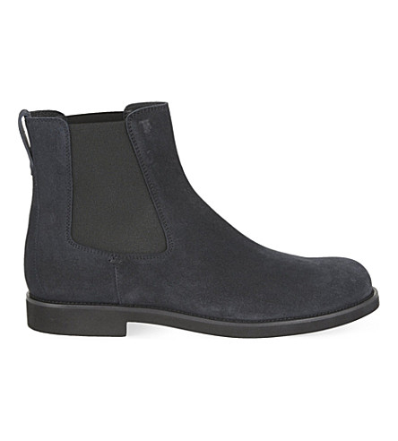 TODS Plain Chelsea ankle boots (Navy