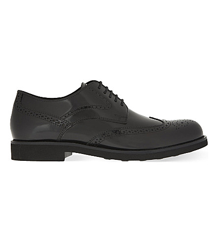 TODS Lite leather Derby shoes (Black