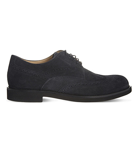 TODS RS Lite suede Derby shoes (Navy