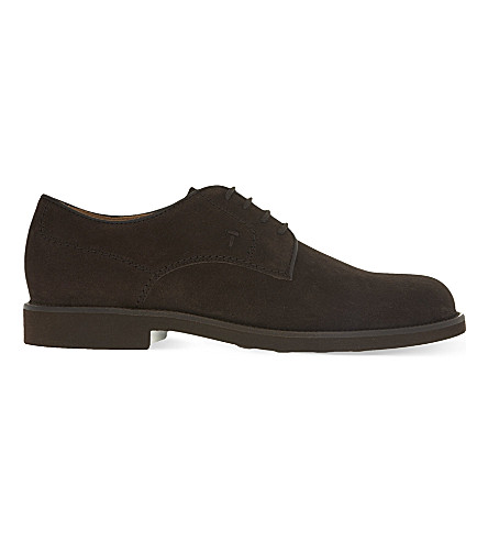 TODS Lite suede Derby shoes (Brown