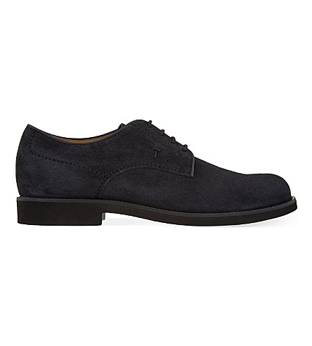 TODS Lite suede Derby shoes (Navy