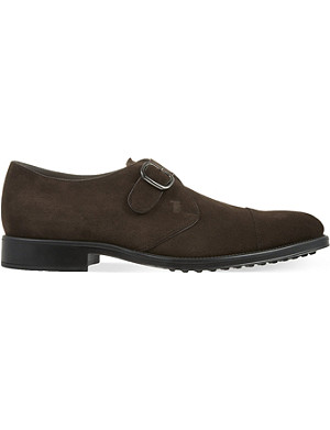 TODS Suede monk strap shoes