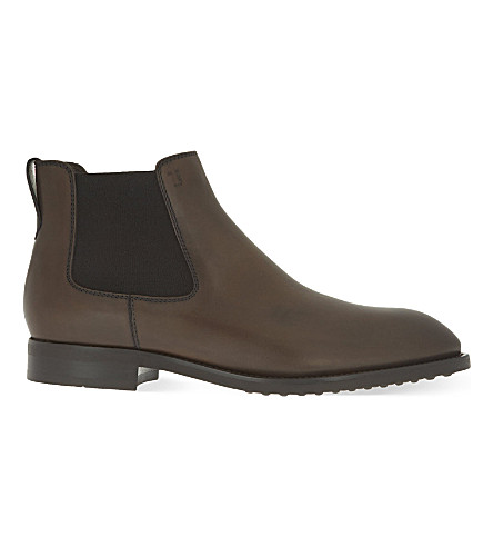 TODS Leather chelsea boots (Brown
