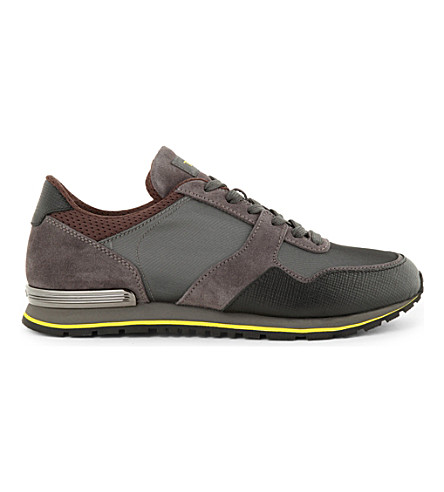 TODS Suede and mesh trainers (Grey