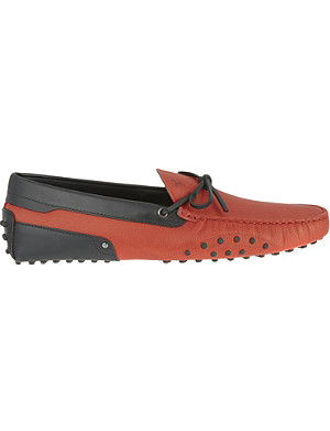 TODS Side pebble tie driver shoes