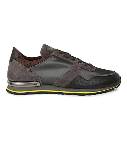 TODS Spoiler mix-panel running trainers (Grey/p.cmb