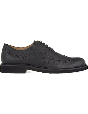TODS Lite grain wingcap Derby shoes