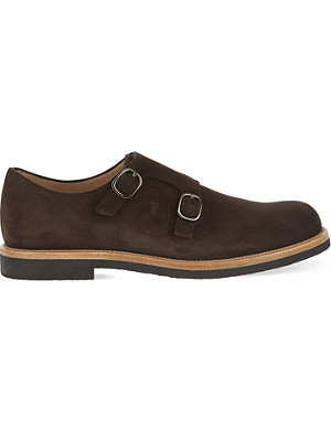 TODS Crepe suede double monk shoes