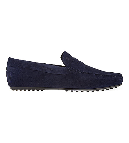 TODS Penny City suede loafers (Navy
