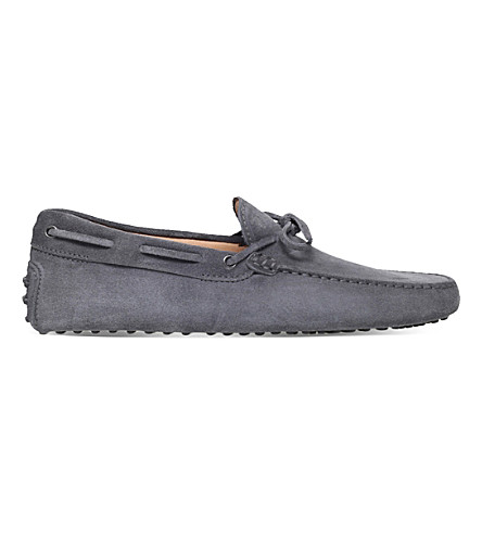 TODS Suede driving shoes (Grey/dark