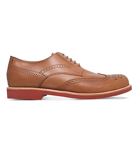 TODS Benson lite leather derby shoes (Tan