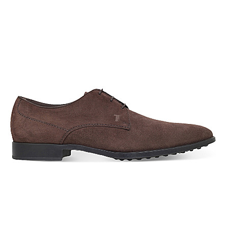 TODS RS suede derby shoes (Brown