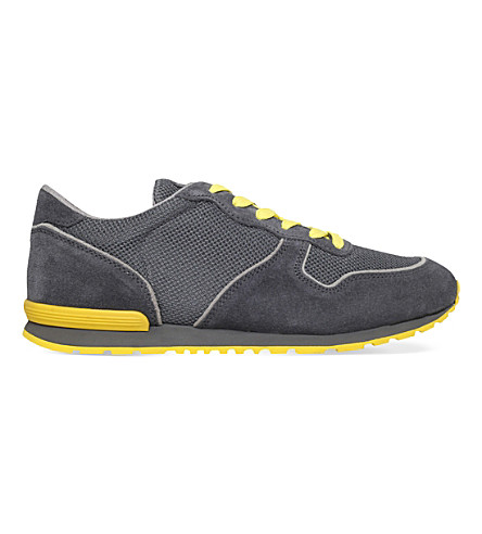 TODS Suede and mesh sneakers (Grey