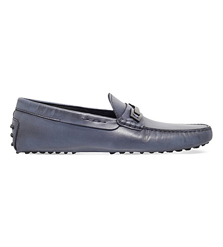 TODS Gommino leather driving shoes (Navy