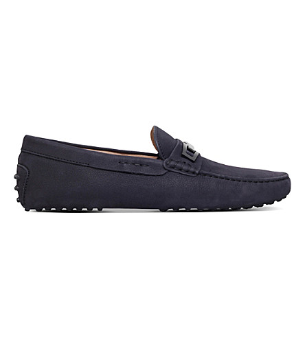 TODS Gommino nubuck leather driving shoes (Navy