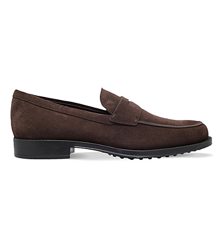 TODS Suede penny loafers (Brown