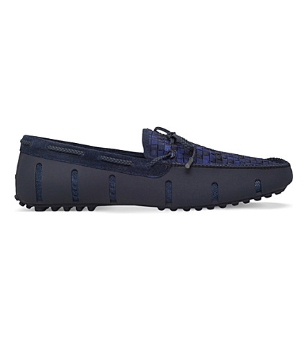 SWIMS Woven Lux suede loafers (Blue+other