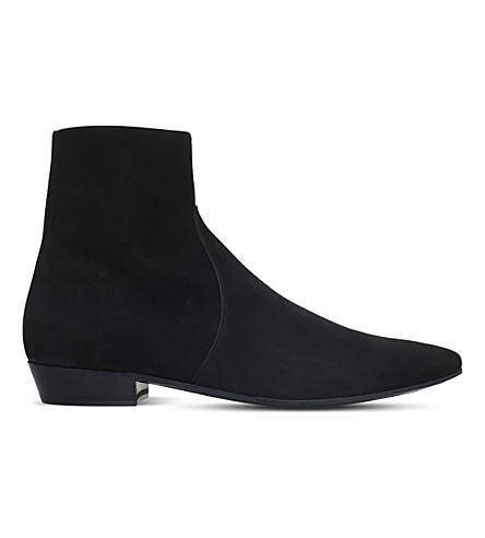 SAINT LAURENT Devon suede ankle boots