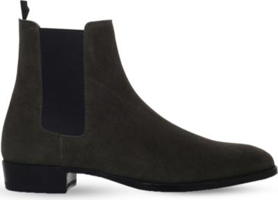 saint laurent wyatt suede chelsea boots. Black Bedroom Furniture Sets. Home Design Ideas