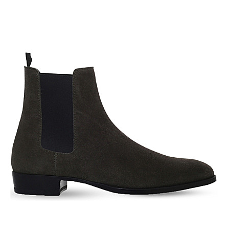 SAINT LAURENT Wyatt suede Chelsea boots (Grey