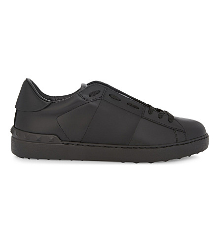 VALENTINO Rockstud leather sneakers (Black