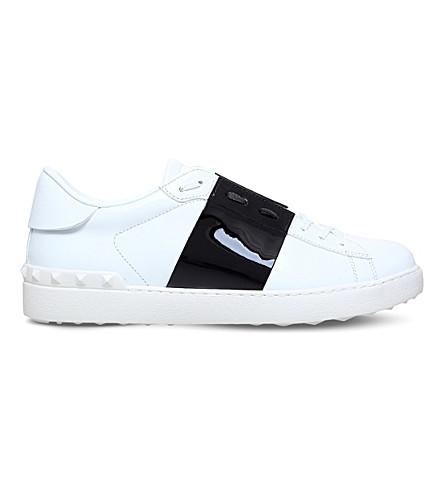 VALENTINO Garavani leather two-tone trainers (White/blk