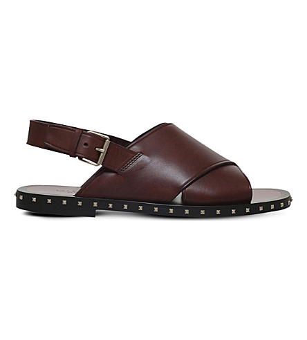 VALENTINO Sole rockstud sandal (Brown