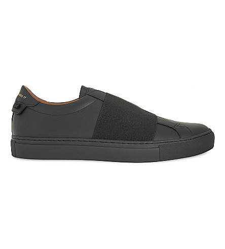 GIVENCHY Elastic panel leather trailer (Black/comb