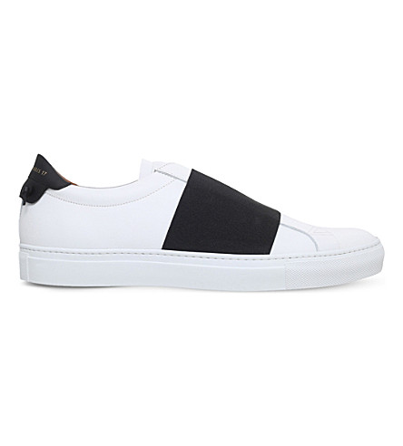GIVENCHY Knot elastic leather trainers (White/blk