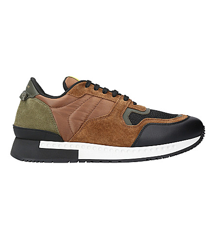 GIVENCHY Active suede runner trainers (Brown/oth