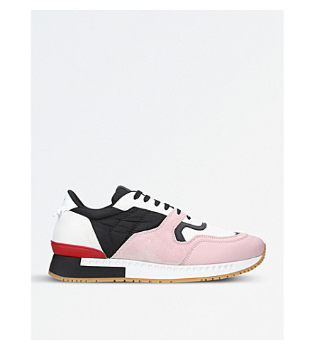 GIVENCHY Active suede multi runner trainers (Pink+comb