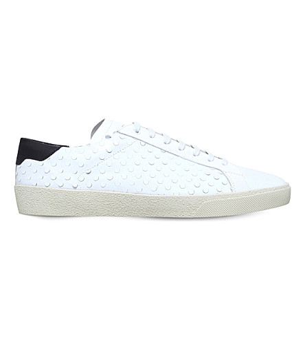 SAINT LAURENT Perf leather trainers (White