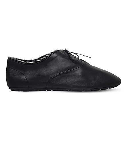 SAINT LAURENT Verneuil leather oxford trainers (Black