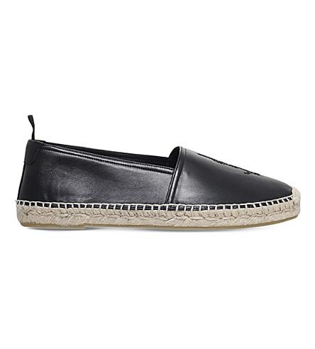 SAINT LAURENT Leather espadrilles (Black