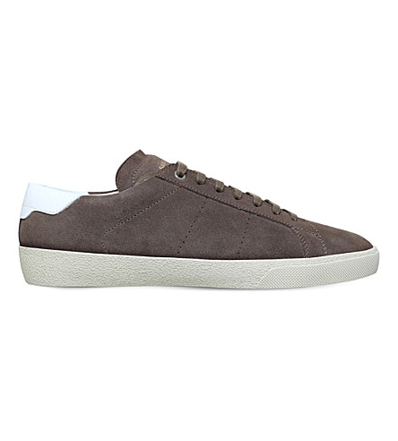 SAINT LAURENT Court Classic suede trainers (Khaki