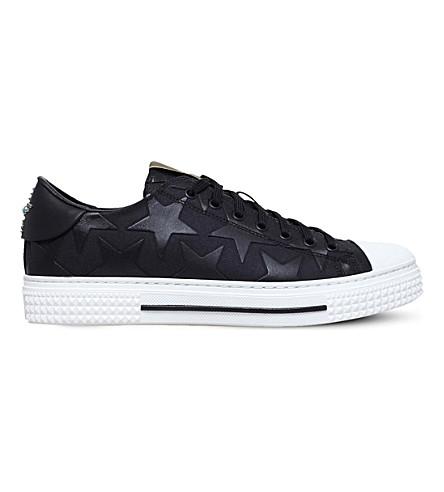 VALENTINO Camo Star canvas trainers (Black