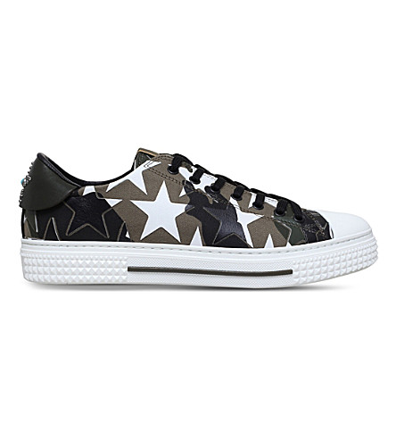 VALENTINO Camo Star canvas trainers (Khaki
