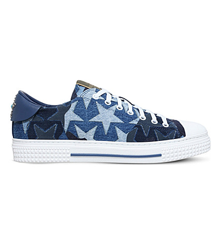 VALENTINO Camo Star denim trainers (Denim